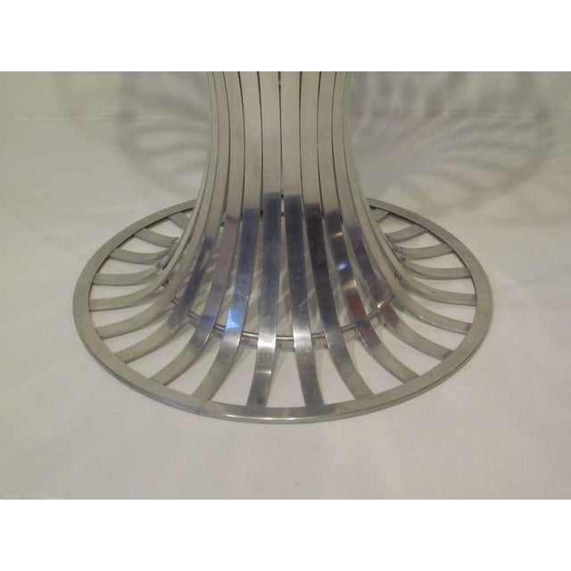 Russell Woodard Russell Woodard Aluminium and Glass Dining Table For Sale - Image 4 of 8
