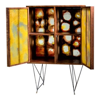 Gene Caples Wood and Painted Fiber Cabinet, USA, 1960s For Sale