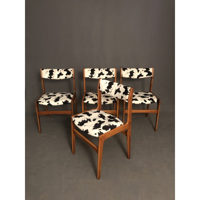 Vintage Mid Century Curated Teak Danish Dining Chairs- Set of 4 For Sale - Image 9 of 12