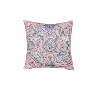 """Monnaies Et Symboles Des Parisii"" Hermès Silk Scarf Pillow For Sale"