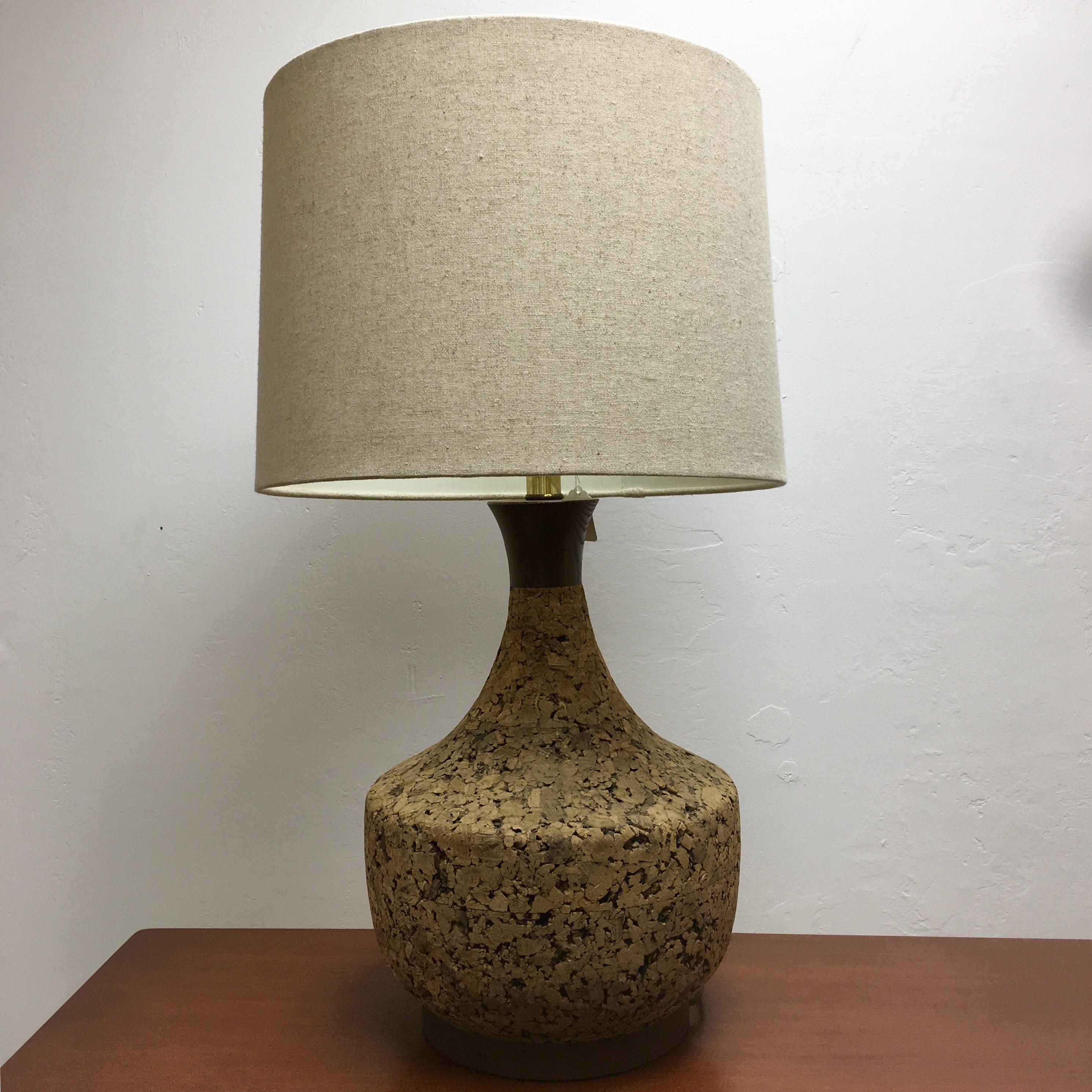 Mid Century Cork Lamp   Image 2 Of 11