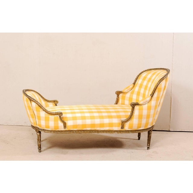 Turn of the Century French Louis XVI Style Chaise For Sale - Image 4 of 11