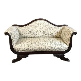 19th Century Louis Philippe Period French Mahogany Sofa Ca. 1850 For Sale