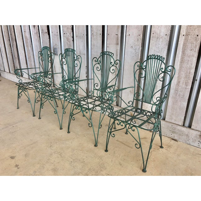 Mid-Century Modern Midcentury French Garden Chairs For Sale - Image 3 of 6