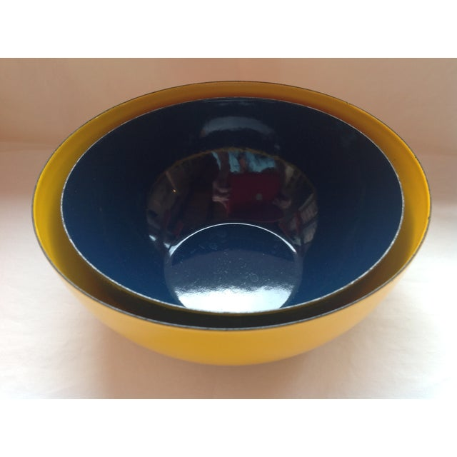 Rare Catherineholm Yellow & Blue Bowls - a Pair For Sale - Image 5 of 8