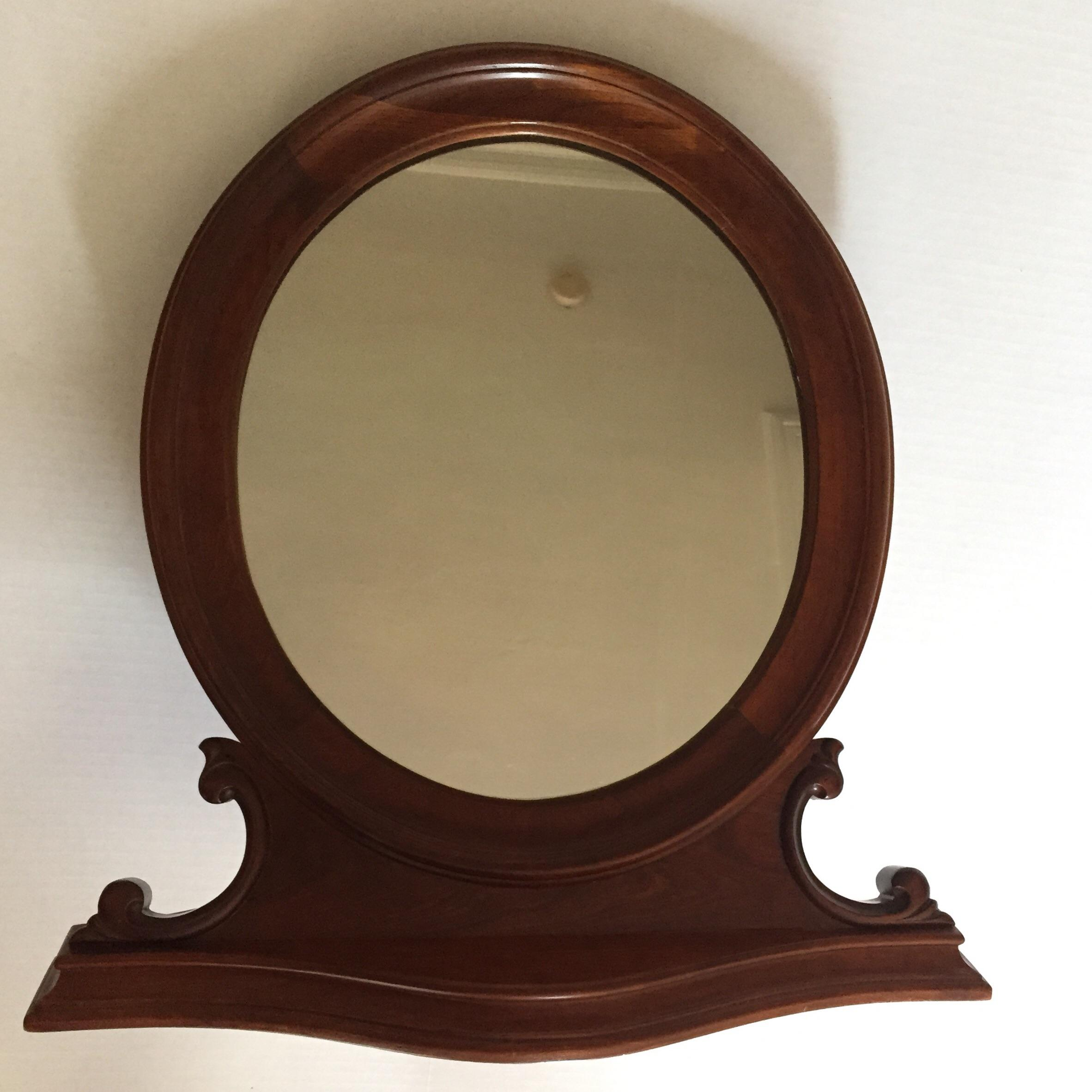 Antique Oval Table Top Mirror   Image 2 Of 9