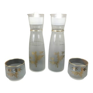 Vintage Mid Century Modern Sake Set - 4 Pieces For Sale