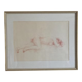 1975 Bette Fast Nude Sketch For Sale
