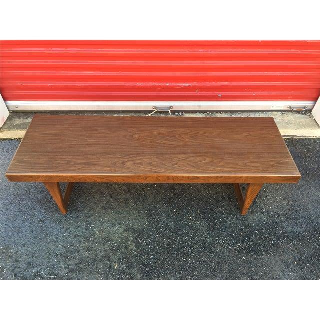 Mid Century Modern Walnut Coffee Table - Image 10 of 10