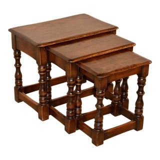 Nest of Three Tables, Circa 1900 For Sale