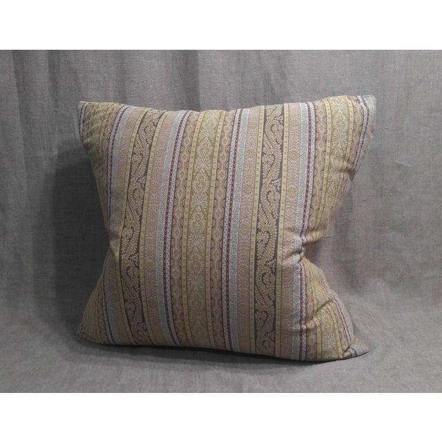 Etro Etro Stripe Fabric Throw Pillow For Sale - Image 4 of 4