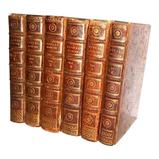 18th Century Vintage French Oeuvres De Lucien Book Set - 6 Volumes For Sale