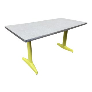Vintage Industrial American Seating Co. Dining Table For Sale