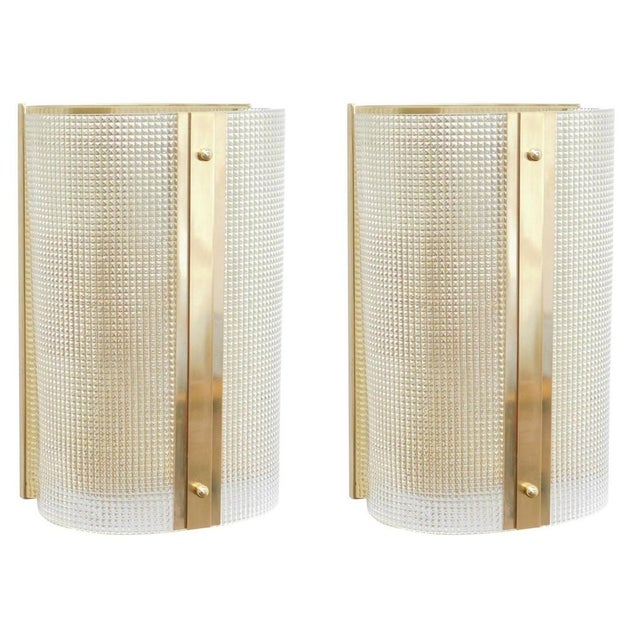 Pair of Strutturato Sconces / Flush Mounts by Fabio Ltd For Sale In Palm Springs - Image 6 of 6