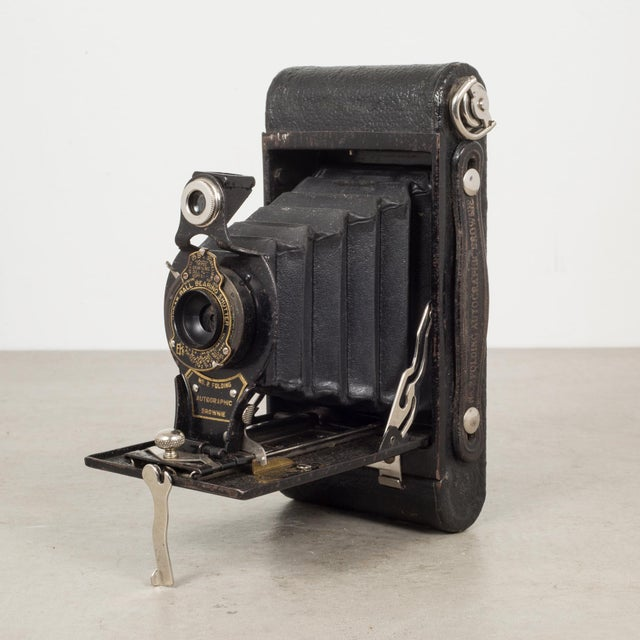 Antique Eastman Kodak No 2 Folding Brownie Camera And Leather Case C 1919 1926 Chairish