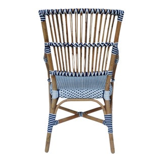 Madrid Arm Chair, White, Rattan For Sale
