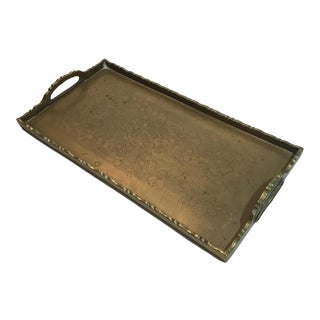 Late 20th Century Brass Tray, Vintage For Sale