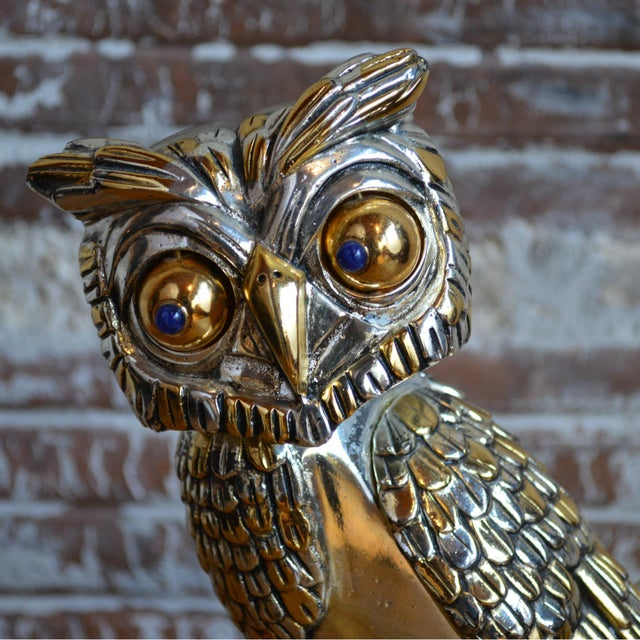 74c017398a6 Mid 20th Century Frank Meisler Silver and Gold Plated Owl Sculpture For  Sale - Image 5