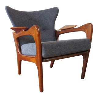 1960s Mid-Century Modern Adrian Pearsall Newly-Restored Wingback Lounge Chair
