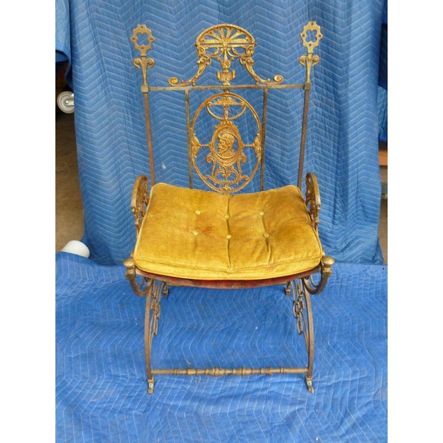Bronze Mid-Century Modern Oscar Bach Bronze and Iron Armchair For Sale - Image 7 of 7