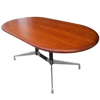 Vintage Herman Miller Table or Desk With Walnut Top For Sale
