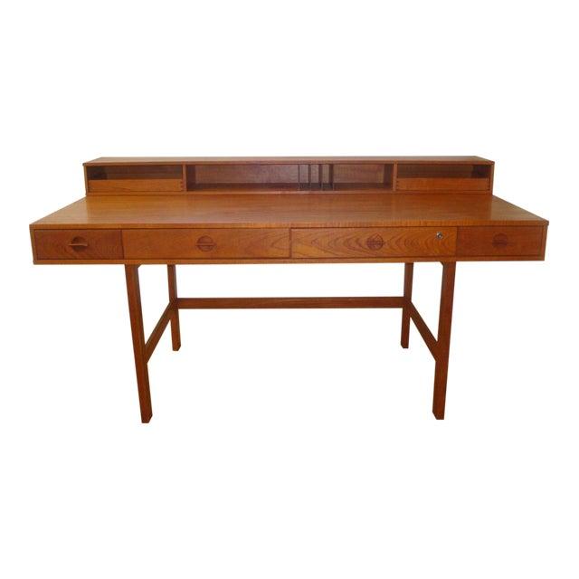 Dansk Lovig Flip-Top Teak Partners Desk or Table For Sale