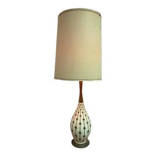 Danish Modern Atomic Geometric Pottery Lamp For Sale
