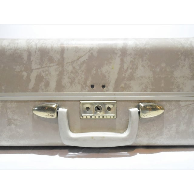 Vintage Samsonite Large Cream Hard Shell Suitcase - Image 6 of 7