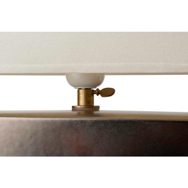 Platinum Glazed Ceramic Table Lamp - Image 5 of 7