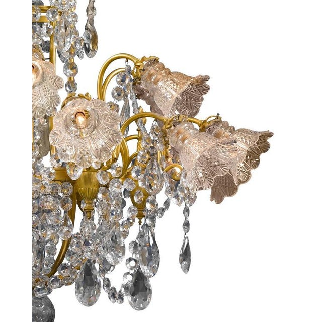 Baccarat Eighteen-Light Baccarat Crystal Chandelier For Sale - Image 4 of 5