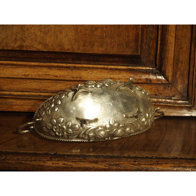 Early 20th Century Small Antique Silver Gondola Form Serving Bowl From Germany, Circa 1900 For Sale - Image 5 of 13