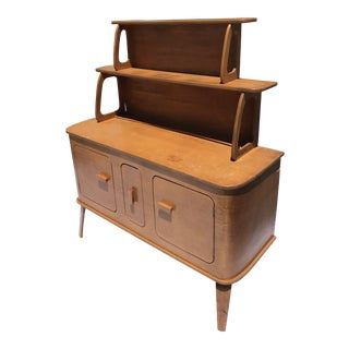 Thaden Jordan Bentwood Side Table With Hutch