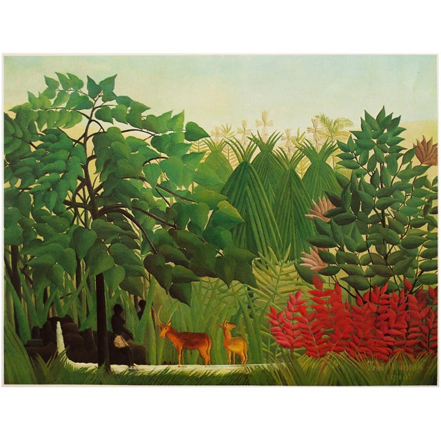 """1966 Henri Rousseau, """"The Waterfall"""" Photogravure From Milan For Sale"""