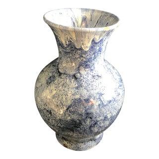 1920's Vintage British Colonial Watercolor Glaze Vase