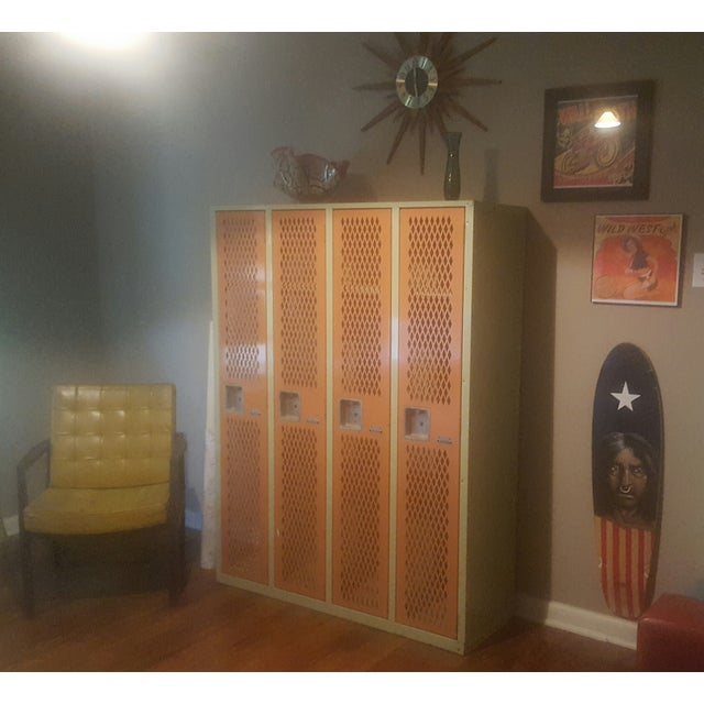 Vintage Mesh Steel Multicolor Lockers - Image 5 of 6