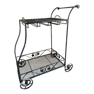 Vintage Rolling Bar Cart For Sale