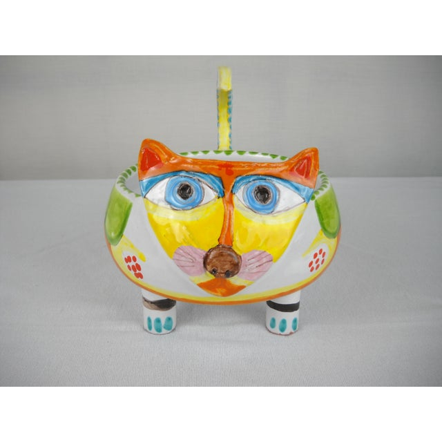 Mid-Century DeSimone Ceramic Cat Bowl - Image 4 of 8