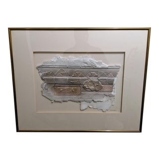 1980s Kathy Sheldon Original Mixed Media 3d Paper Art Gallery Framed For Sale