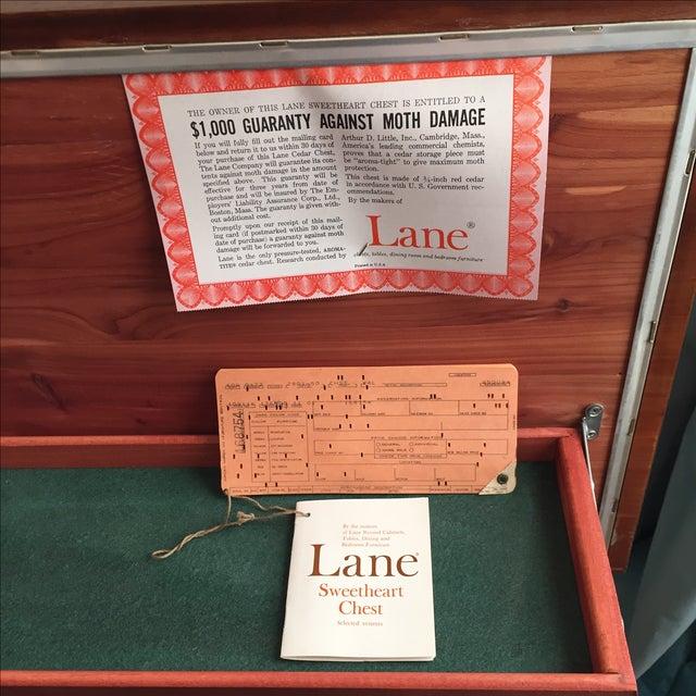 Lane Mid-Century Cedar Credenza Trunk For Sale - Image 5 of 11