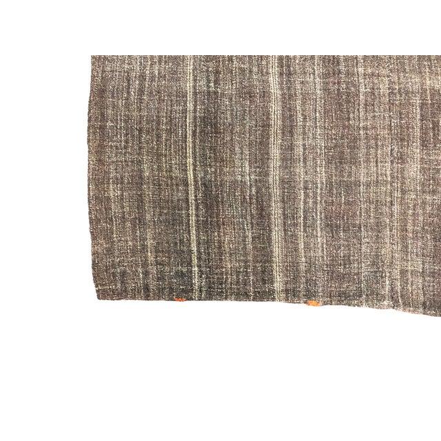 Turkish Brown Organic Handwoven Kilim Rug - 4′8″ × 6′11″ For Sale - Image 6 of 7