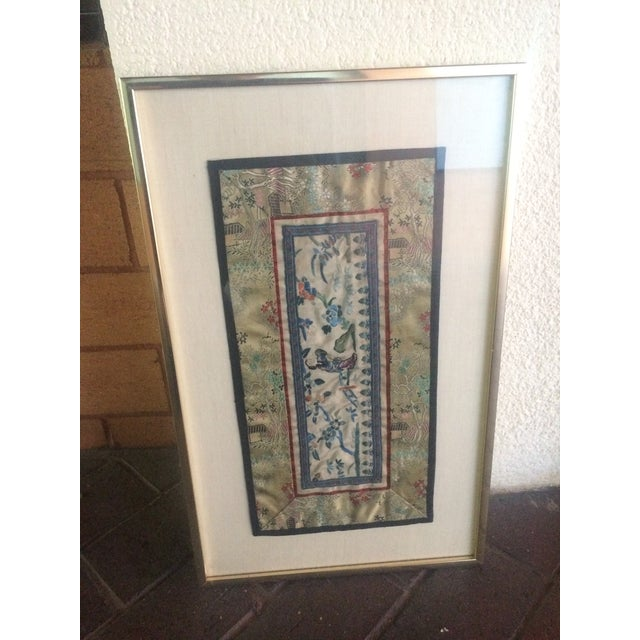 Asian Vintage Asian Silk Embroidered Panel For Sale - Image 3 of 6