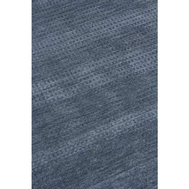 2020s Exquisite Rugs Worcester Handwoven Wool Denim Blue - 6'x9' For Sale - Image 5 of 8