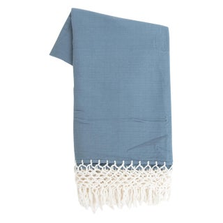 Navy Blue Mexican Throw