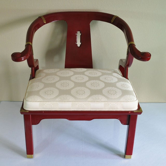 Century Red Lacquer Ming Chair - Image 2 of 8