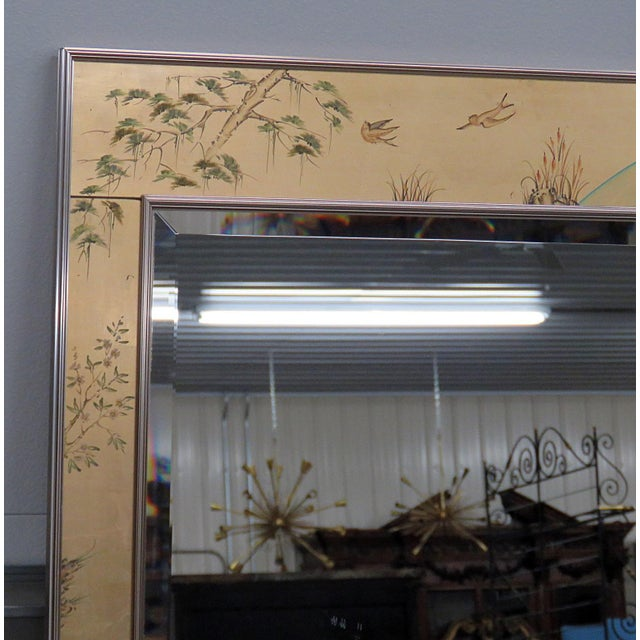 Late 20th Century LaBarge Asian Inspired Mirror For Sale - Image 5 of 9