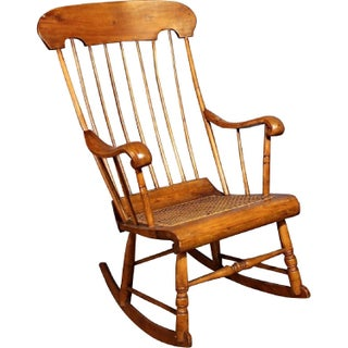 Spindle Back Caned Seat Rocking Chair Preview