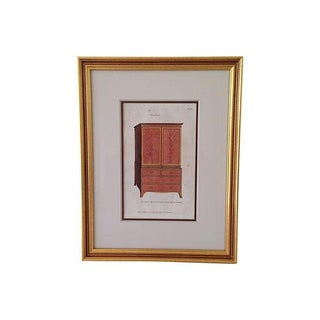Antique Hepplewhite Lithograph For Sale