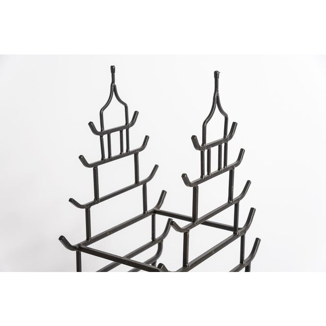 Chinoiserie Chinoiserie Steel Pagoda Shape Umbrella Stand For Sale - Image 3 of 9