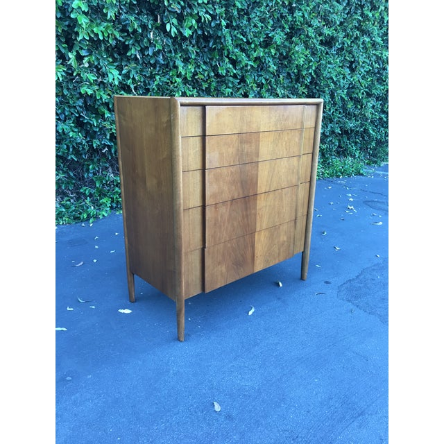 Mid-Century Modern Mid Century Modern High Boy Dresser Chest of Drawers Parallel Collection by Barney Flagg for Drexel For Sale - Image 3 of 12
