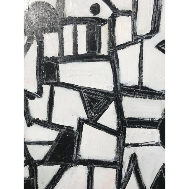 """Sarah Trundle, Contemporary Abstract Black and White Painting, """"Much Ado"""" For Sale - Image 6 of 8"""